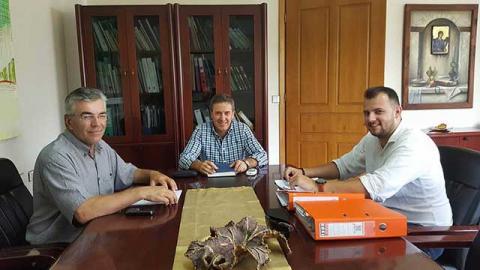 Δήμαρχος Αλμωπίας με προέδρους Σχολικών Επιτροπών