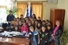1ο δημοτικό σχολείο, εκπαιδευτική επίσκεψη στο Δημαρχείο Σκύδρας