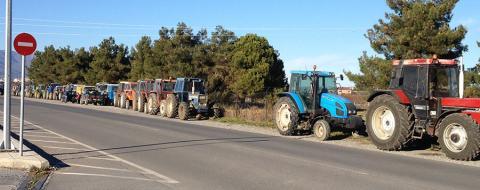 Αγροτες τρακτέρ στους δρόμους, Γιαννιτσά