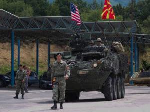 Σκόπια, στρατόπεδο Κρίβολακ, Αύγουστος 2017: Κοινή στρατιωτική άσκηση ΠΓΔΜ-ΗΠΑ.
