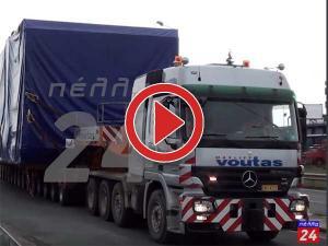Διέλευση βαρέος οχήματος από τα Γιαννιτσά