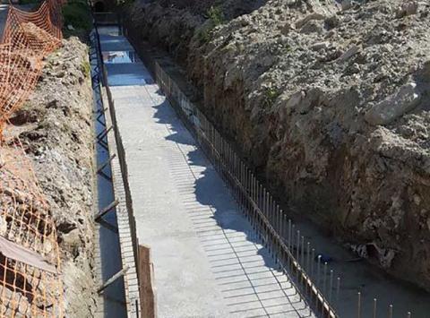 διαμόρφωση οχετών ομβρίων υδάτων στην Αριδαία