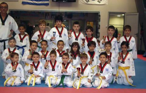 Α.Σ. Φίλιππος Γιαννιτσών στο Διασυλλογικό Πρωτάθλημα taekwondo στην Λάρισα
