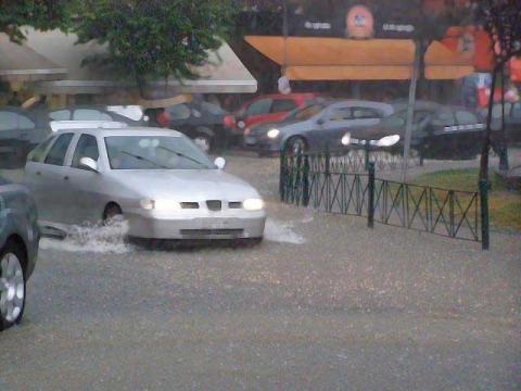 Βροχή στα Γιαννιτσά
